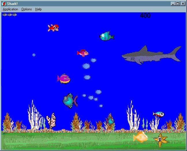 Shark for Big fish in a small pond game